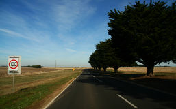Country road. Australia country road leading far far away Royalty Free Stock Photography