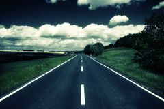 Country road. Road in fredrick maryland Royalty Free Stock Image