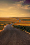 Country road. Beautiful autumn day royalty free stock photo