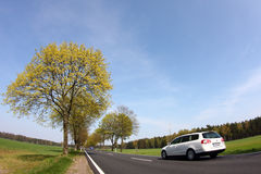 Country road. At bavaria, germany Royalty Free Stock Photo