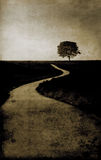 Country road. Grunge image of countryside road Royalty Free Stock Image