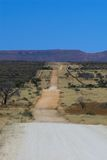 Country road. In Africa (Namibia) leading to the horizon Royalty Free Stock Image