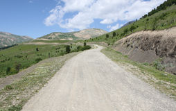 Country road. Road Leading Down in masouleh city Stock Image