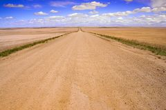Country Road 3. A road in rural Saskatchewan Canada Royalty Free Stock Images