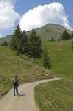 Country Road. Hiking Vaud Switzerland Stock Photos