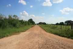 Country Road. A country road in south-central Texas in Medina County Stock Images