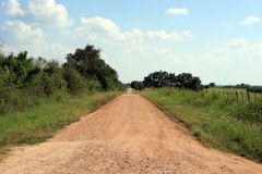 Country Road. A country road in south-central Texas in the County of Medina Stock Photo