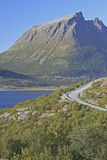 Country road. Along the norwegian sea shoreline Royalty Free Stock Image