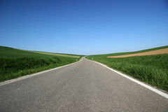 Country road. In southern bavaria Stock Images
