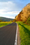 Country road. In the warm afternoon light Royalty Free Stock Images