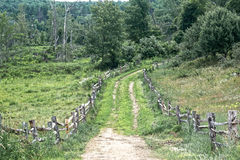 Country road. An abandon country road in rural Vermont Royalty Free Stock Images