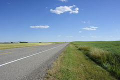 Country road. In Alberta Canada Stock Photo