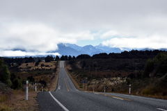 Country road at the alps in New Zealand Royalty Free Stock Image