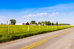 Country Road. American Country Road Side View Royalty Free Stock Photography