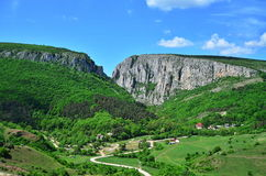 Country Road And Turda Gorge. Royalty Free Stock Photo