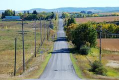 Country road  in Autumn Stock Photos