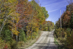 Country Road in Autumn - Ontario, Canada Royalty Free Stock Photography