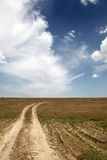 Country road and beautiful clouds. Road at countryside in Ukraine . Photo for background #5 Stock Photography