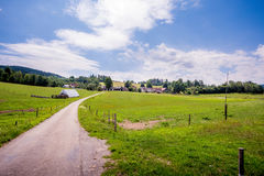Country road. Beautiful nature and sky Royalty Free Stock Images