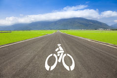 Country road for bicycle. Only Royalty Free Stock Image