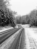 Country Road in Black and White Royalty Free Stock Images