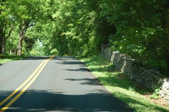 Country Road - blue ridge appalachia- Boyce, Virginia. A Country Road - blue ridge appalachia- Boyce, Virginia royalty free stock photography