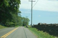 Country Road - blue ridge appalachia- Boyce, Virginia. A Country Road - blue ridge appalachia- Boyce, Virginia stock photos