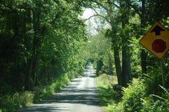 Country Road - Blue Ridge Appalachia - Boyce, Virginia. A Country Road - Blue Ridge Appalachia - Boyce, Virginia stock photo
