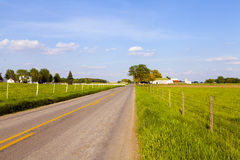Country Road. With Blue Sky Royalty Free Stock Photos