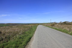 Country Road Bodmin Moor Cornwall. Country Road leading through Bodmin Moor Cornwall England Royalty Free Stock Photos