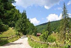 Country Road in Casa de Piatra Village Stock Photo