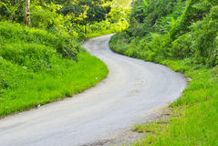 Country Road in Chiang Mai Thailand Royalty Free Stock Photos
