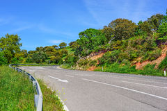 Country road on a clear day in Sardinia Royalty Free Stock Photo