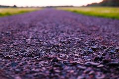 Country road, close up. Country asphalt road, close up Stock Photo