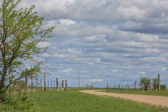 Country road on a cloudy day Royalty Free Stock Photos