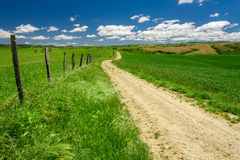 Country road in the countryside Royalty Free Stock Photo