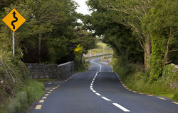 Country road in County Clare near Corranroo, Ireland Stock Photography