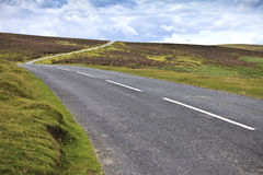 Country road crossing Dartmoor National Park, England, United Kingdom Stock Photography