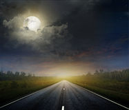 Country road with a dark sky Royalty Free Stock Photography