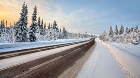 Country road in december Stock Photography