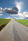 Country road in Denmark Royalty Free Stock Image