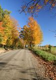 Country Road. A dirt road in the country in Southern Quebec, Canada Stock Photo