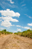 Country road disappearing into the sky Royalty Free Stock Photo