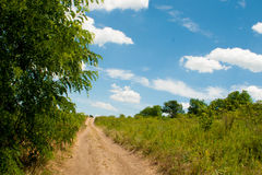 Country road disappearing into the sky Stock Photography