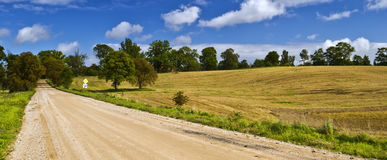 Country road at early autumn, latvia Stock Photos