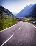 Country road. At the european alps Stock Photo