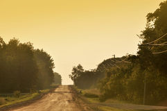 Country road in the evening Royalty Free Stock Images