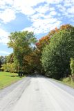 Country Road in Fall. In Eastern Townships, Quebec stock photography