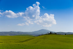 Country road flanked with cypresses in Tuscany, Italy Stock Photos