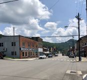West Virginia Street in the Summer royalty free stock images